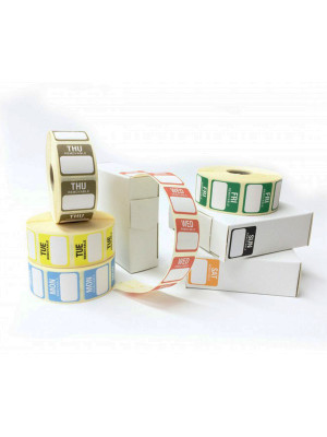 Full Set of 25x25mm Day of the week Food Labels - DY068