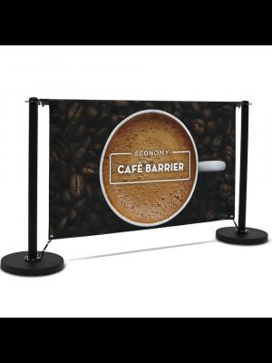 Economy Cafe Barrier Full Kit - 1500mm Single Sided Print