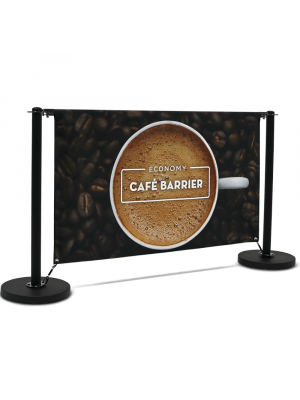Economy Cafe Barrier Full Kit - 1500mm Double Sided Print