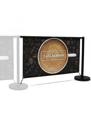 Economy Cafe Barrier Extension Kit - 1500mm Single Sided Print