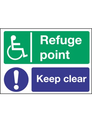 Disabled Refuge Point / Keep Clear Notice