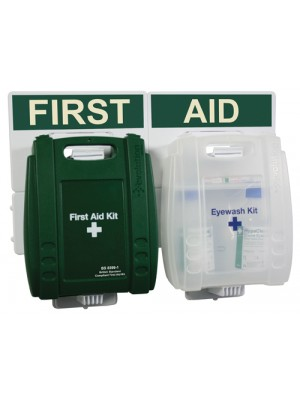 British Standard Compliant Catering First Aid Kit & Eye Wash Point Kits