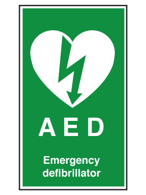 AED Emergency Defibrillator Notice - Material Options