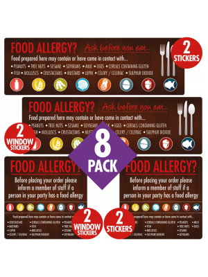 Food Allergen Awareness Catering Sign Pack - FAN005