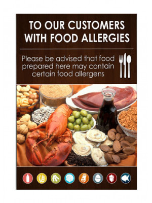 Customers with Food Allergies Notice - Frame Options