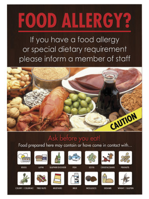 Customer Food Allergy Informing Notice - Multiple Choices