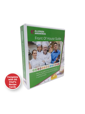 Chef Dishes - Staff & Server Allergy Card Guide - A5 Ring Binder with 50 Cards (Double sided to fill in 100 dishes)