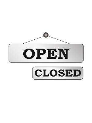 Silver Open & Closed Notice - FD148