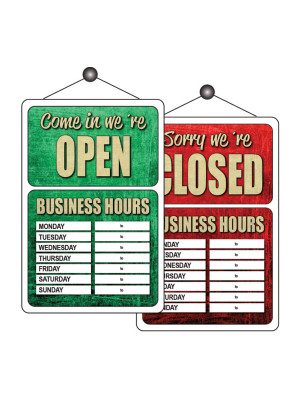 Open & Closed Business Hours Notice - FD161