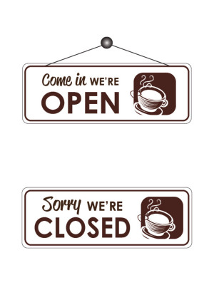 Cafe Open & Closed Notice - FD166