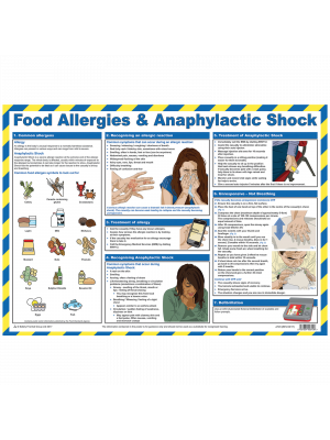 picture relating to Free Printable Food Safety Signs identify Meals Allergy Notices Posters - Catering Protection Food stuff