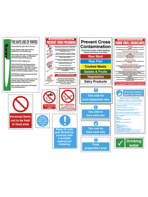 Food Preparation Sign Pack - FPRPK