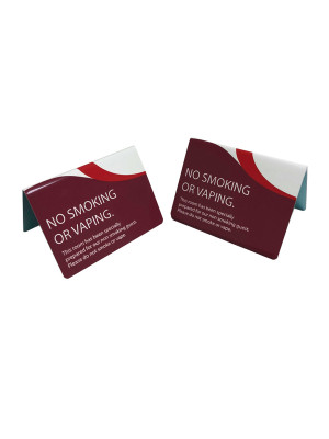 No Smoking or Vaping Guest Information Tent Notices - Multipack - GH016 - Multiple Colours