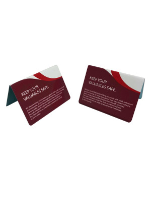Keep Your Valuables Safe Guest Information Tent Notices - Multipack - GH019 - Multiple Colours