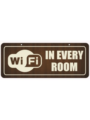 WIFI in Every Room Window Hanging Notice - GS005