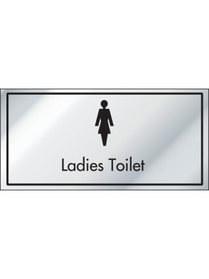 Ladies Toilet Information Door Sign - ID004