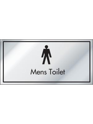 Mens Toilet Information Door Sign - ID006