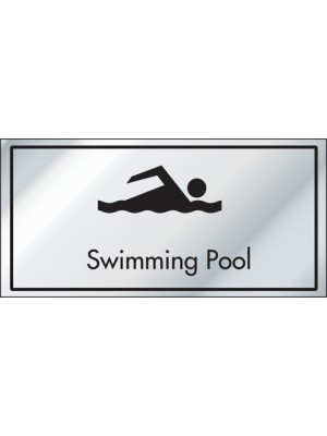 Swimming Pool Information Door Sign - ID009