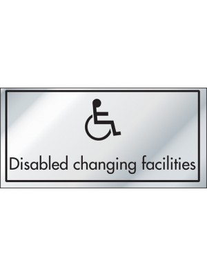 Disabled Changing Facilities Information Door Sign - ID010