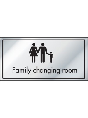 Family Changing Room Information Door Sign - ID011