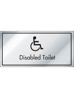Disabled Toilet Information Door Sign - ID012