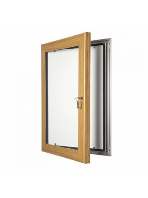 Light Wood Effect Key Lockable outdoor menu poster cases
