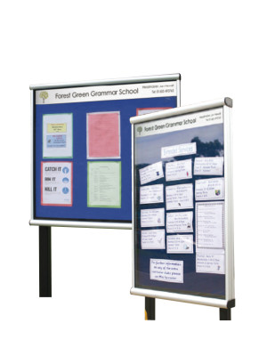 Illuminated Prestige Post Mounted Display Case