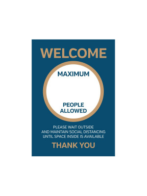 Maximum People Allowed on Your Premises Sign