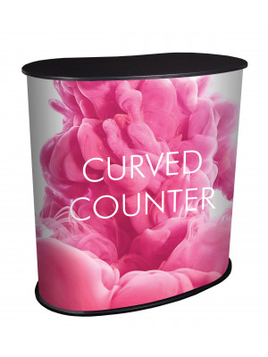 Curved Promotional Counter Display
