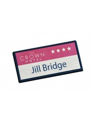 Large Rectangle Framed Staff Name Badge - NB003