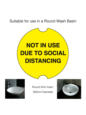Circular Social Distancing Washroom Sink Cover