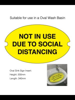 Oval Social Distancing Washroom Sink Cover