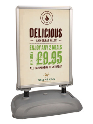 Forecourt Snap Poster Frame Displays - Multiple Sizes