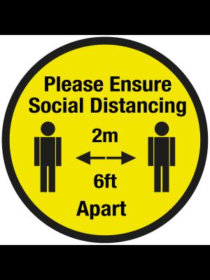 Please ensure of social distancing floor graphic