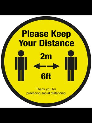 Please keep your 2 metre social distancing floor graphic