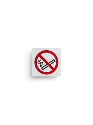 No Smoking Text & Symbol Sign