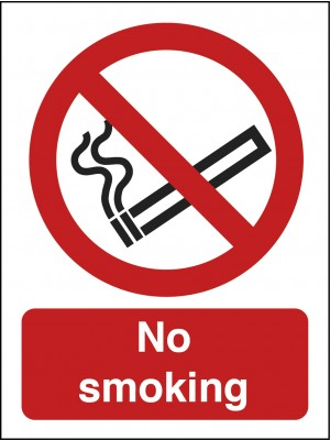 No Smoking Text and Symbol Sign