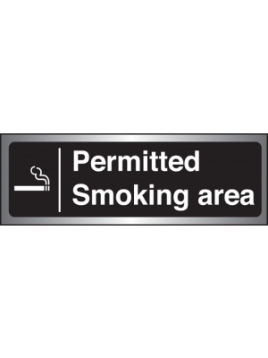 PS259 - Silver Permitted Smoking Area