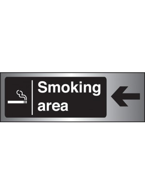 PS261 - Silver Smoking Area Arrow Left