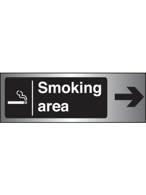 PS262 - Silver Smoking Area Arrow Right