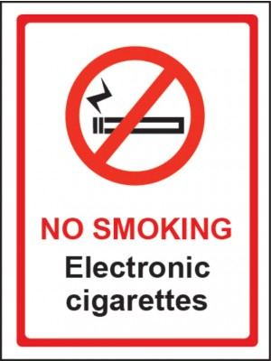 No Smoking Electronic Cigarettes Sign