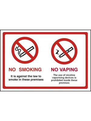 No Smoking & No Vaping Sign