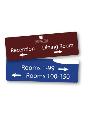 Premium Wall Mounted Directional Sign - Multiple Options