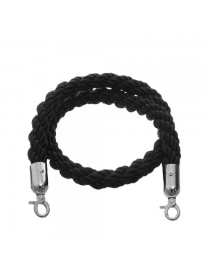 Black 1.5 metre Twisted Rope - RBS008 BLACK
