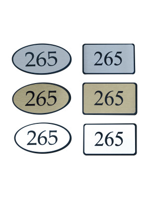 Premier Framed Door Numbers - Multiple Options