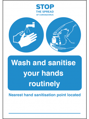 Your nearest Hand Sanitation Point Station is located vinyl sticker