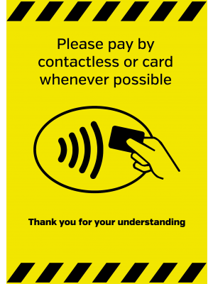 Contactless Payments policy signs