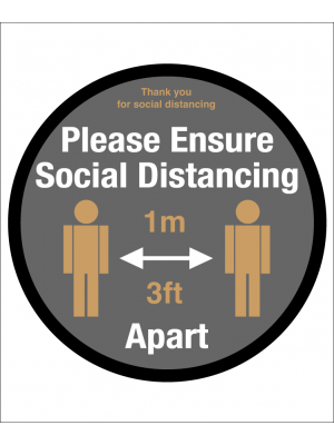 Please ensure of social distancing floor graphic
