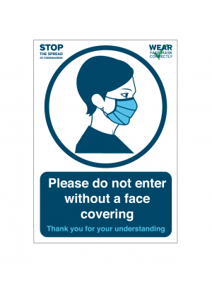 Please DO NOT enter without a face covering notice