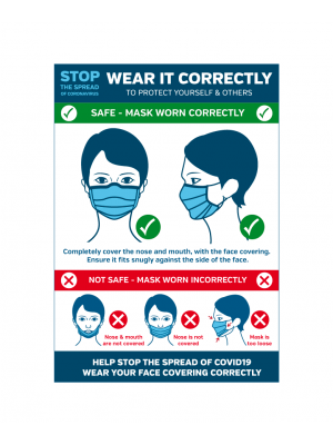 How to wear a face covering correctly to protect yourself and others notice